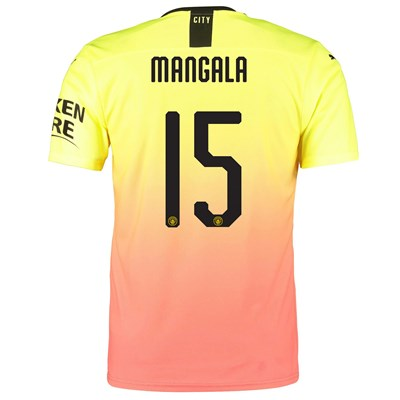 Manchester City Authentic Cup Third Shirt 2019-20 with Mangala 15 printing