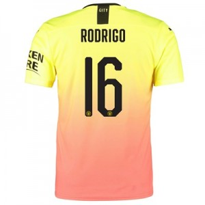 Manchester City Authentic Cup Third Shirt 2019-20 with Rodrigo 16 printing