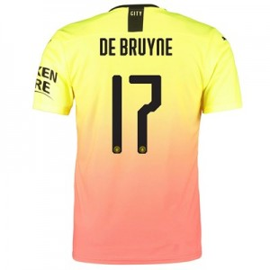 Manchester City Authentic Cup Third Shirt 2019-20 with De Bruyne 17 printing