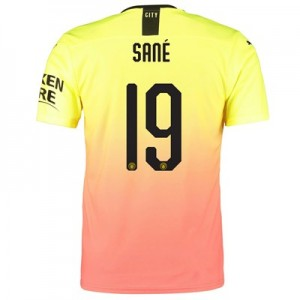 Manchester City Authentic Cup Third Shirt 2019-20 with Sané 19 printing