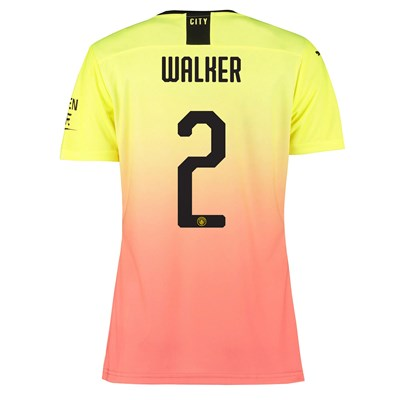 Manchester City Authentic Cup Third Shirt 2019-20 - Womens with Walker 2 printing