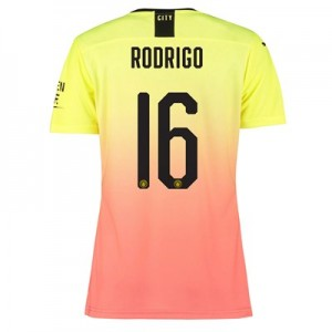 Manchester City Authentic Cup Third Shirt 2019-20 - Womens with Rodrigo 16 printing