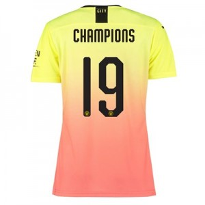 Manchester City Authentic Cup Third Shirt 2019-20 - Womens with Champions 19 printing