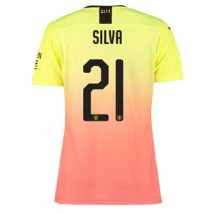 Manchester City Authentic Cup Third Shirt 2019-20 - Womens with Silva 21 printing