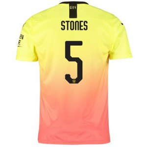 Manchester City Cup Third Shirt 2019-20 with Stones 5 printing