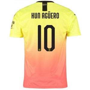 Manchester City Cup Third Shirt 2019-20 with Kun Agüero  10 printing