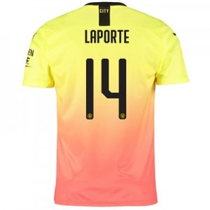 Manchester City Cup Third Shirt 2019-20 with Laporte 14 printing