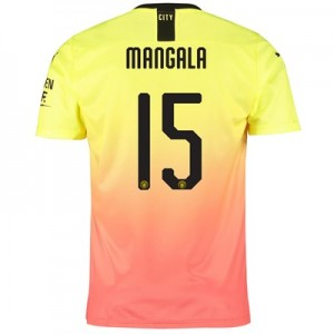 Manchester City Cup Third Shirt 2019-20 with Mangala 15 printing