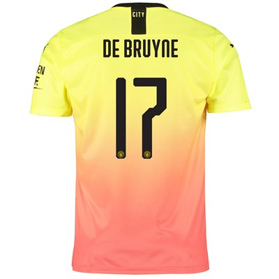 Manchester City Cup Third Shirt 2019-20 with De Bruyne 17 printing