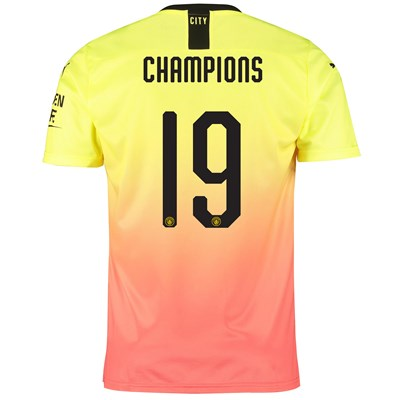 Manchester City Cup Third Shirt 2019-20 with Champions 19 printing