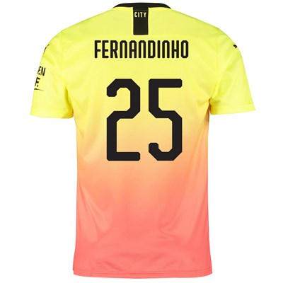 Manchester City Cup Third Shirt 2019-20 with Fernandinho 25 printing