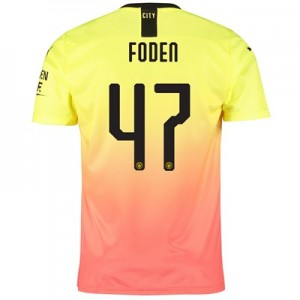 Manchester City Cup Third Shirt 2019-20 with Foden 47 printing