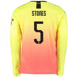 Manchester City Cup Third Shirt 2019-20 - Long Sleeve with Stones 5 printing