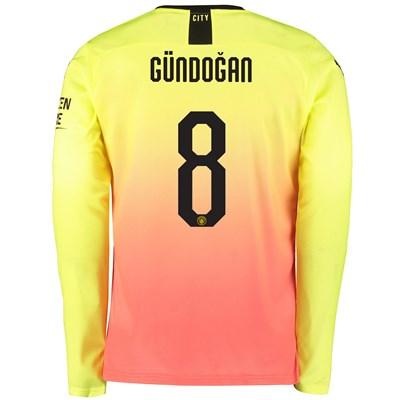 Manchester City Cup Third Shirt 2019-20 - Long Sleeve with Gündogan 8 printing