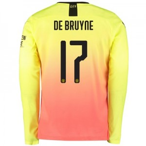 Manchester City Cup Third Shirt 2019-20 - Long Sleeve with De Bruyne 17 printing