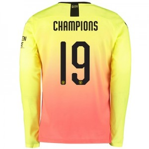 Manchester City Cup Third Shirt 2019-20 - Long Sleeve with Champions 19 printing