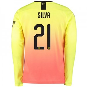 Manchester City Cup Third Shirt 2019-20 - Long Sleeve with Silva 21 printing