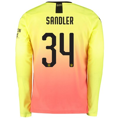 Manchester City Cup Third Shirt 2019-20 - Long Sleeve with Sandler 34 printing