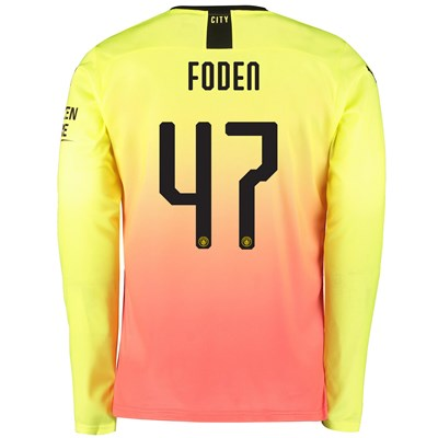 Manchester City Cup Third Shirt 2019-20 - Long Sleeve with Foden 47 printing