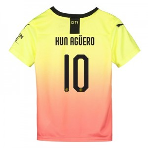 Manchester City Cup Third Shirt 2019-20 - Kids with Kun Agüero  10 printing