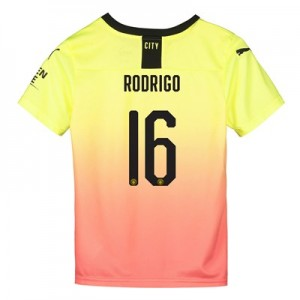 Manchester City Cup Third Shirt 2019-20 - Kids with Rodrigo 16 printing