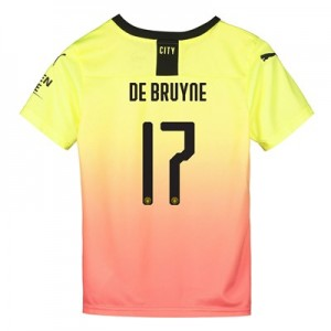 Manchester City Cup Third Shirt 2019-20 - Kids with De Bruyne 17 printing