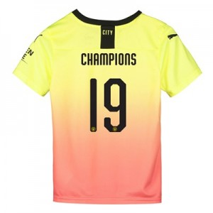 Manchester City Cup Third Shirt 2019-20 - Kids with Champions 19 printing