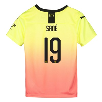Manchester City Cup Third Shirt 2019-20 - Kids with Sané 19 printing