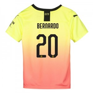 Manchester City Cup Third Shirt 2019-20 - Kids with Bernardo 20 printing
