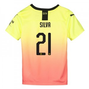 Manchester City Cup Third Shirt 2019-20 - Kids with Silva 21 printing