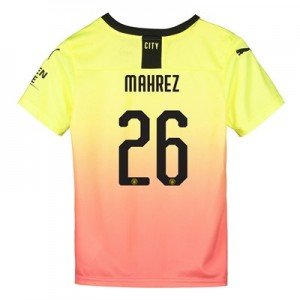 Manchester City Cup Third Shirt 2019-20 - Kids with Mahrez 26 printing