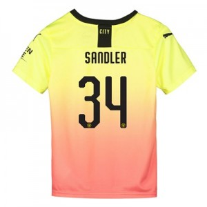 Manchester City Cup Third Shirt 2019-20 - Kids with Sandler 34 printing