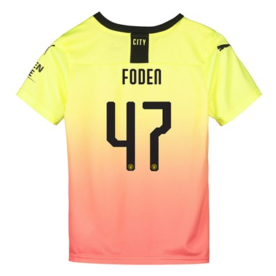 Manchester City Cup Third Shirt 2019-20 - Kids with Foden 47 printing