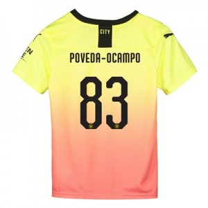 Manchester City Cup Third Shirt 2019-20 - Kids with Poveda-Ocampo 83 printing