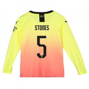 Manchester City Cup Third Shirt 2019-20 - Long Sleeve - Kids with Stones 5 printing