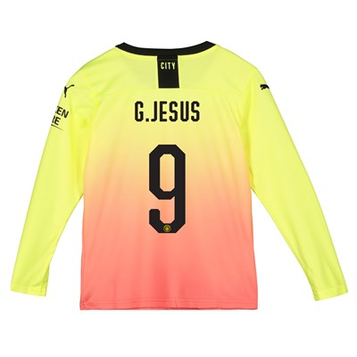 Manchester City Cup Third Shirt 2019-20 - Long Sleeve - Kids with G.Jesus 9 printing