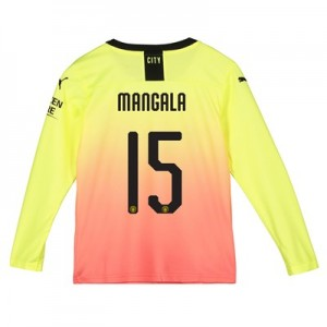 Manchester City Cup Third Shirt 2019-20 - Long Sleeve - Kids with Mangala 15 printing