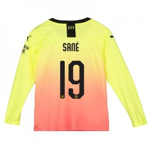 Manchester City Cup Third Shirt 2019-20 - Long Sleeve - Kids with Sané 19 printing