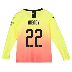 Manchester City Cup Third Shirt 2019-20 - Long Sleeve - Kids with Mendy 22 printing