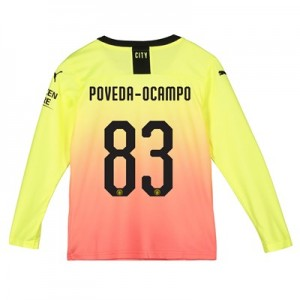 Manchester City Cup Third Shirt 2019-20 - Long Sleeve - Kids with Poveda-Ocampo 83 printing