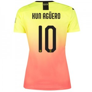Manchester City Cup Third Shirt 2019-20 - Womens with Kun Agüero  10 printing