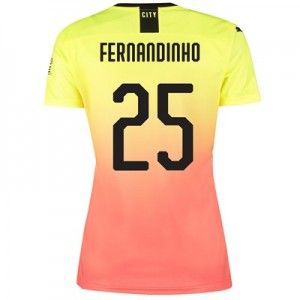 Manchester City Cup Third Shirt 2019-20 - Womens with Fernandinho 25 printing