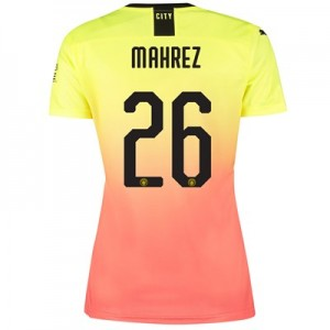 Manchester City Cup Third Shirt 2019-20 - Womens with Mahrez 26 printing