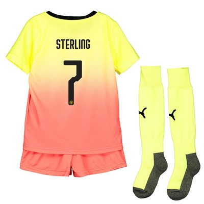 Manchester City Cup Third Mini Kit 2019-20 with Sterling 7 printing