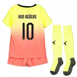 Manchester City Cup Third Mini Kit 2019-20 with Kun Agüero  10 printing