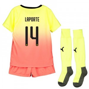 Manchester City Cup Third Mini Kit 2019-20 with Laporte 14 printing