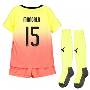 Manchester City Cup Third Mini Kit 2019-20 with Mangala 15 printing