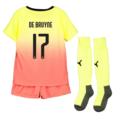 Manchester City Cup Third Mini Kit 2019-20 with De Bruyne 17 printing