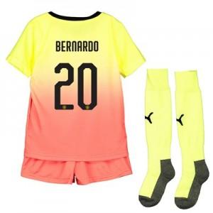 Manchester City Cup Third Mini Kit 2019-20 with Bernardo 20 printing