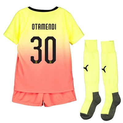 Manchester City Cup Third Mini Kit 2019-20 with Otamendi 30 printing